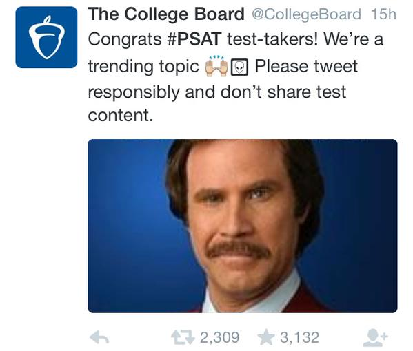 College board response to #PSAT