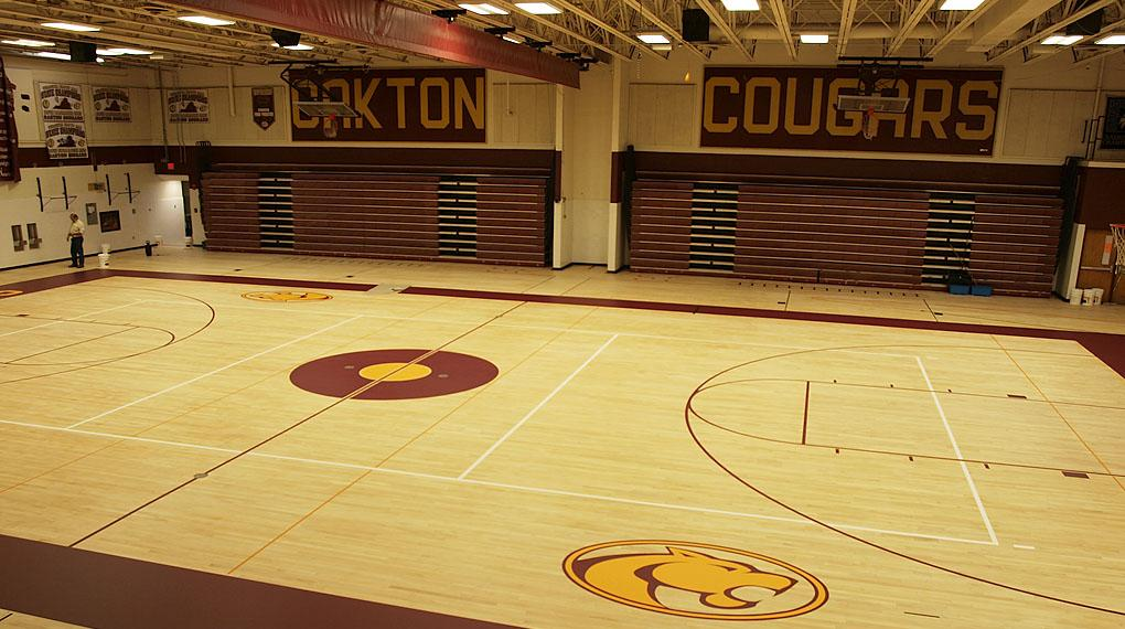Oakton high school ranked 5th in state oakton outlook for Basketball gym designs and layout