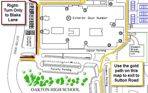 As seen in the map above, from February 7th on Oakton Security will be re-routing traffic from the Senior onto Sutton Rd. northbound.