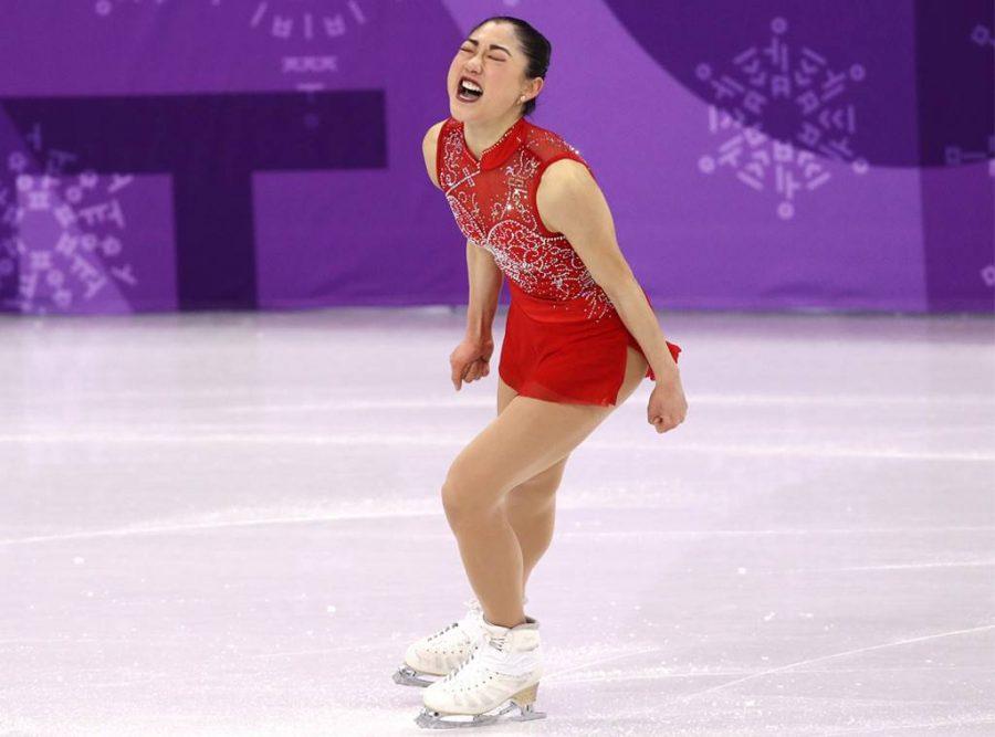 Nagasu landing her triple axel