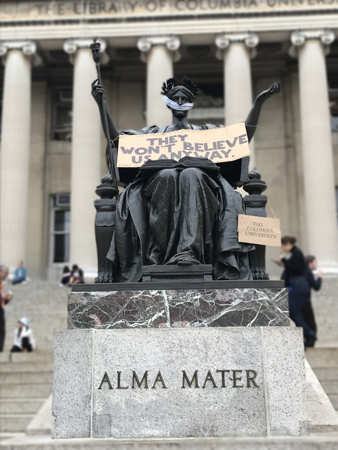 Students at Columbia University in New York City protest the Kavanaugh nomination