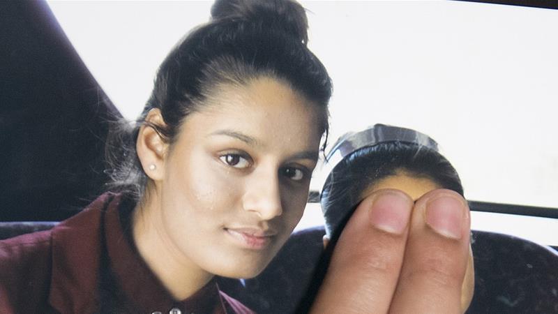 Shamima Begum, courtesy of Al Jazeera