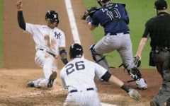 The Tamps Bay Rays in the 2020 ALDS win over the New York Yankees 2-1