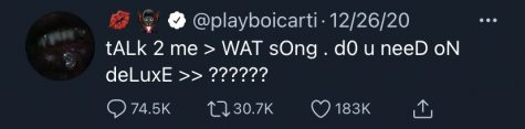 Tweeted by Playboi Carti right after his release of Whole Lotta Red